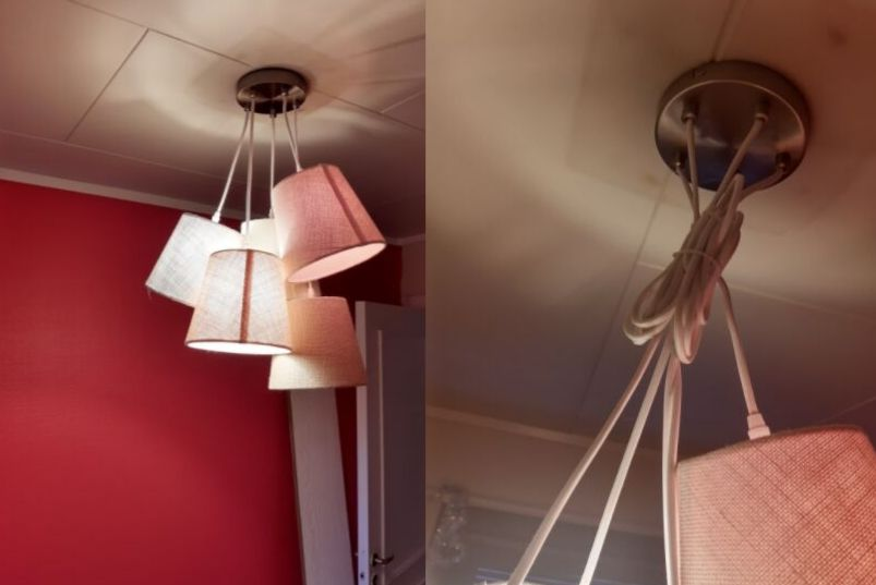 fjerne ekstra ledning på lampe