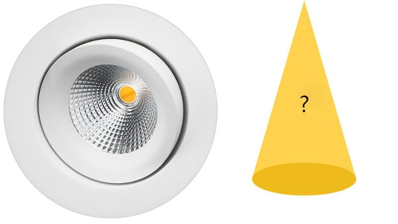 spredningsvinkel for downlight og lys