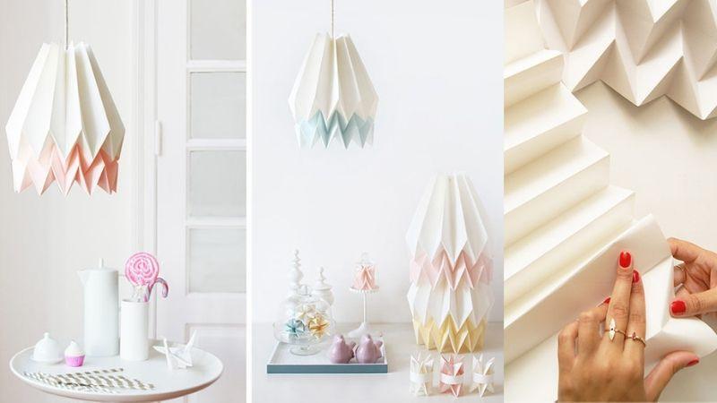 origami og papir lamper