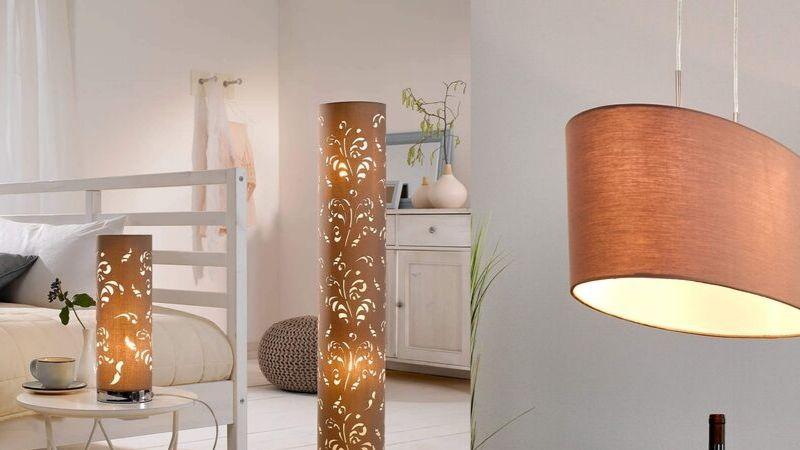 lamper i stoff og tekstil