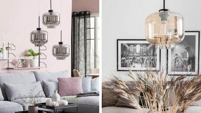 vakre glass lamper i fine farger